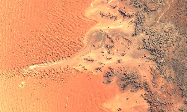 Beautiful maps: Deserts: Namib Desert