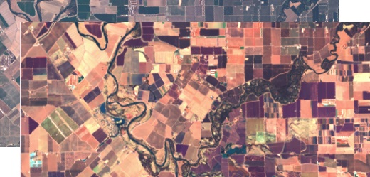 How to make online products on satellite images: False RGB