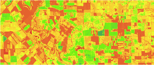 How to make online products on satellite images: Setup your color scheme of NDVI