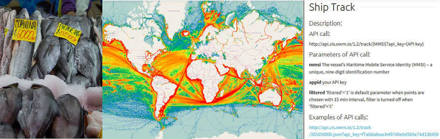 Using an analytical service OWM AIS for the control of illegal fishing