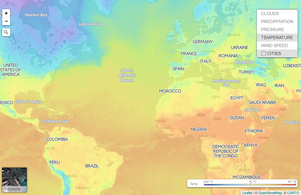 Weather Map Of The Carribean.Weather News End New Weather Service Openweathermap