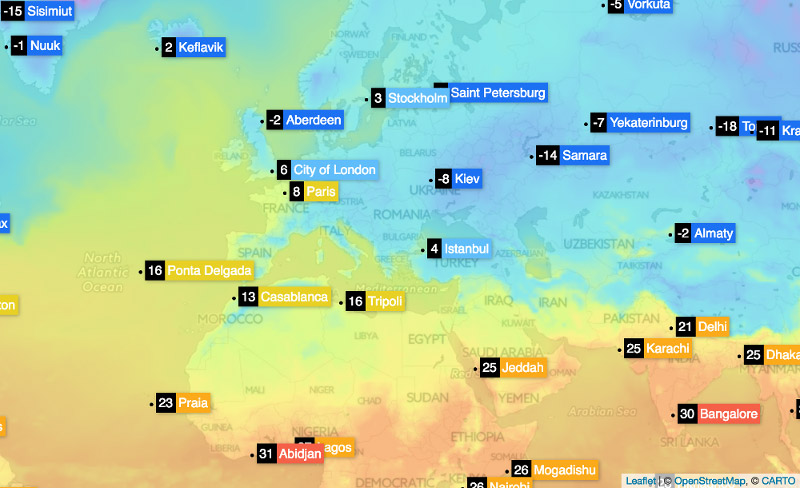 Сurrent weather and forecast - OpenWeatherMap